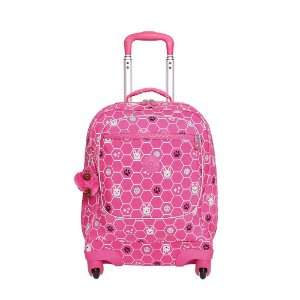 Mala de Rodinhas Licia - Pink Dog Tile - Kipling