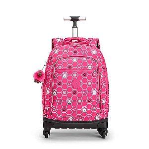 Mala de Rodinhas Echo - Pink Dog Tile - Kipling