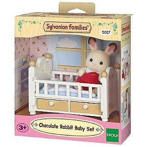 Sylvanian Families - Bebê Coelho Chocolate e Cama