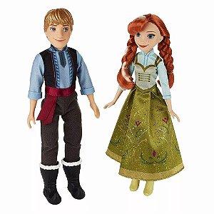 Frozen 1 - Bonecos Anna e Kristoff