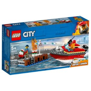 Lego City - Dock Side Fire - Original Lego