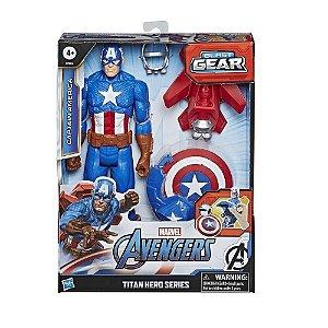 Boneco Articulado Capitao America Blast Gear - Hasbro