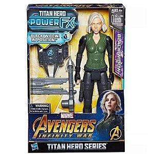 Boneco Articulado Eletronico Viuva Negra Power FX Avengers Infinity War - hasbro