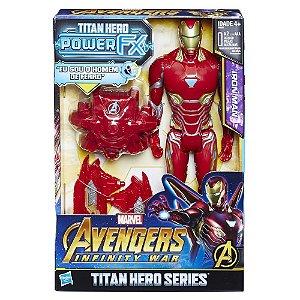 Boneco Articulado Eletronico Homem de Ferro Avengers Infinity War Power FX - Hasbro