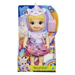BABY ALIVE TINYCORN GATINHA E9423