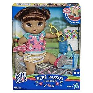 BABY ALIVE PRIMEIROS PASSINHOS MORENA E5248