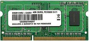 MEMÓRIA NOTEBOOK 4GB 1600MHZ DDR3L OEM