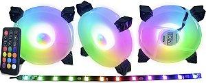 KIT 03 FAN GAMING MASTER 120MM RGB + FITA AK-AAF1