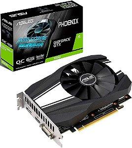 PLACA DE VÍDEO ASUS PHOENIX GEFORCE GTX 1660 OC 6GB GDDR5 192BITS