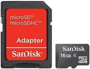 CARTÃO DE MEMÓRIA 16GB SANDISK CLASSE 4 SDSDQM-016G-B35A
