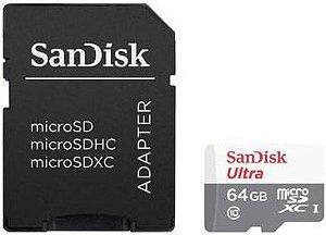 CARTÃO DE MEMÓRIA 64GB SANDISK ULTRA CLASSE 10 SDSQUNS-064G-GN3MA