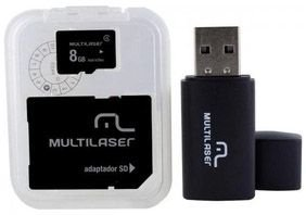 CARTÃO DE MEMÓRIA 8GB + LEITOR MULTILASER CLASSE 4 MC058
