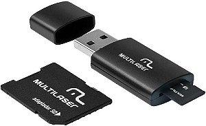 CARTÃO DE MEMÓRIA 16GB + LEITOR MULTILASER CLASSE 10 MC112