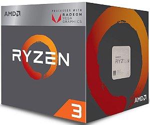 PROCESSADOR AMD RYZEN 3 2200G 3.5GHZ 6MB CACHE VEGA GRAPHICS AM4
