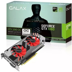 PLACA DE VÍDEO GALAX GEFORCE GTX 1060 OC 6GB DDR5
