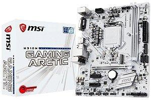 PLACA MÃE MSI H310M GAMING ARCTIC DDR4 LGA1151