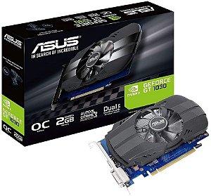 PLACA DE VÍDEO ASUS GEFORCE GT 1030 OC 2GB GDDR5 64BITS