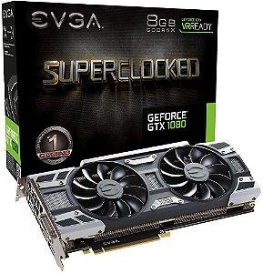 PLACA DE VÍDEO EVGA GEFORCE GTX 1080 SC 8GB DDR5 - SEMINOVA