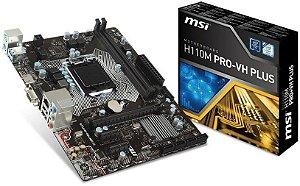 PLACA MÃE MSI H110M PRO-VH PLUS DDR4 LGA1151