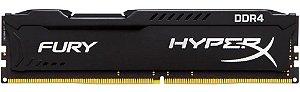 MEMÓRIA DESKTOP HYPERX FURY 8GB 2400MHZ DDR4