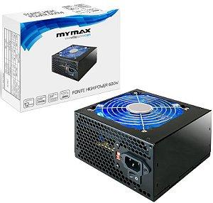 FONTE MYMAX 600W REAL MPSU/FP600W