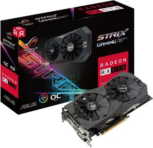 PLACA DE VÍDEO ASUS ROG STRIX AMD RADEON RX 570 4GB DDR5