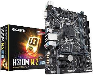 PLACA MÃE GIGABYTE H310M M.2 DDR4 LGA1151