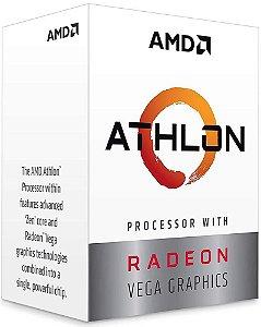 PROCESSADOR AMD ATHLON 200GE 3.2GHZ 5MB CACHE VEGA GRAPHICS AM4