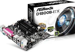 PLACA MÃE ASROCK D1800B-ITX DUAL CORE J1800 2.41GHZ DDR3