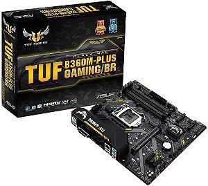PLACA MÃE INTEL ASUS TUF B360M-PLUS GAMING/BR DDR4 LGA1151