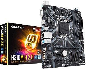 PLACA MÃE INTEL GIGABYTE H310M H 2.0 DDR4 LGA1151