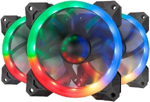 KIT 3 FAN REDRAGON 120MM RGB GC-F008