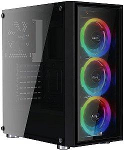 GABINETE AEROCOOL QUARTZ REVO RGB - 03 COOLERS INCLUSO