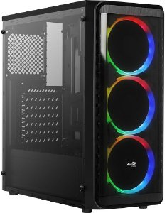 GABINETE AEROCOOL SI-5200 WINDOW RGB - 01 COOLER INCLUSO
