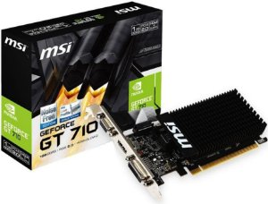 PLACA DE VÍDEO MSI GEFORCE GT 710 1GB DDR3 64BIT