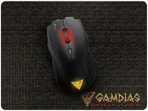 KIT GAMDIAS DEMETER E1 3200DPI + MOUSEPAD NYX E1 SPEED 240X180MM