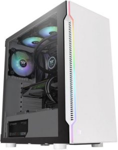 GABINETE THERMALTAKE H200 TG RGB SNOW EDITION CA-1M3-00M6WN-00 - 01 COOLER INCLUSO