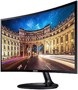 """MONITOR SAMSUNG 23.5"""" LED CURVO FULL HD FREESYNC HDMI/VGA LC24F390FHLMZD"""