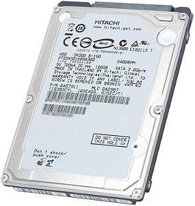 HD NOTEBOOK HITACHI 160GB 5400RPM 5K500 B-160 (SEMINOVO)