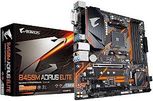 PLACA MÃE AMD GIGABYTE B450M AORUS ELITE DDR4 AM4
