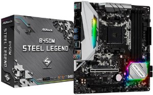 PLACA MÃE AMD ASROCK B450M STELL LEGEND DDR4 AM4