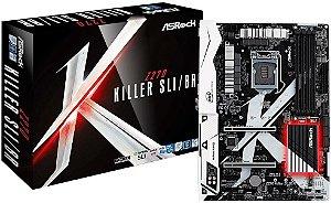 PLACA MÃE INTEL ASROCK Z270 KILLER SLI/BR DDR4 LGA1151 *VITRINE