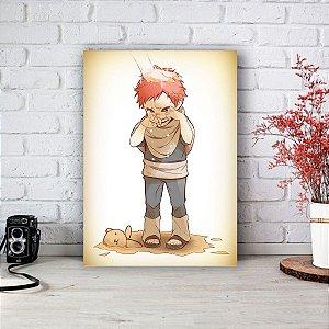 Quadro/Placa Decorativa Gaara (criança)  - Naruto