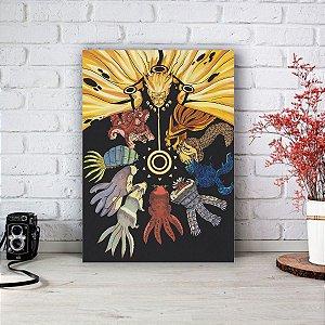 Quadro/Placa Decorativa Naruto e as 9 Bijus  - Naruto