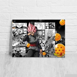 Quadro/Placa Decorativa Goku Black Rosé - Dragon Ball