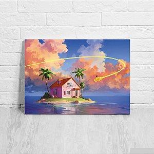 Quadro/Placa Decorativa Kame House - Dragon Ball