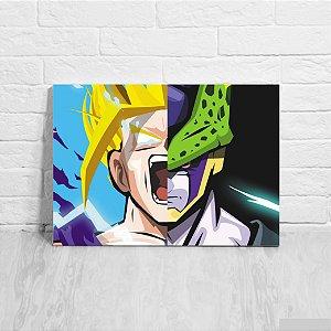 Quadro/Placa Decorativa Gohan e Cell - Dragon Ball