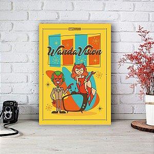 Quadro/Placa Decorativa WandaVision (desenho)