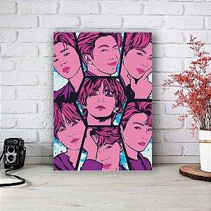 Quadro/Placa Decorativa BTS - Bangtan Boys mod.02