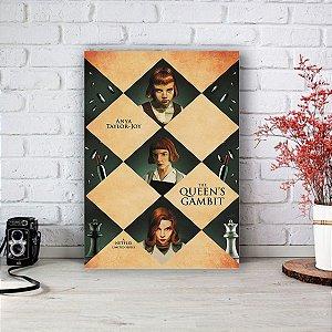 Quadro/Placa Decorativa Pôster O Gambito da Rainha - The Queen's Gambit (Netflix)